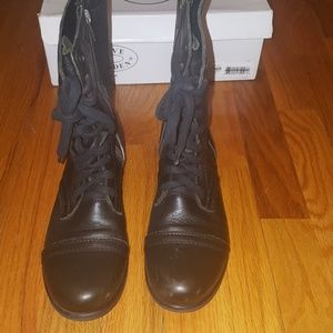 Steve madden military troopa boot